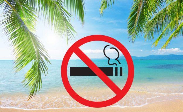 Вступление в закон запрета о курении на пляжах Таиланда